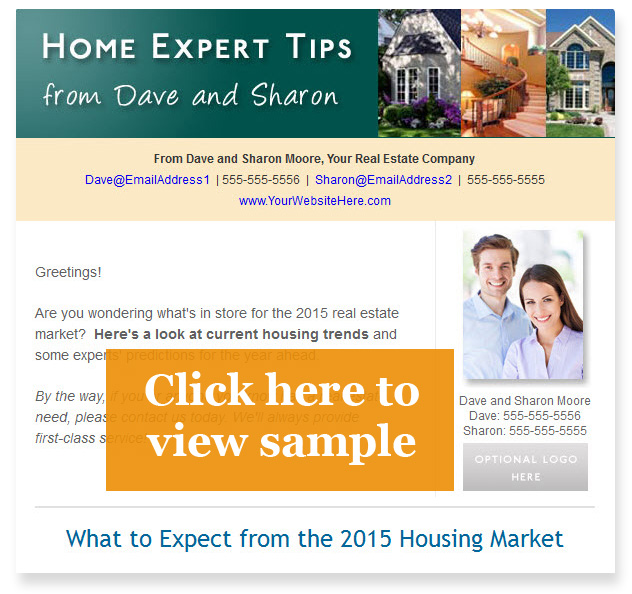 Real estate email newsletter sample 2