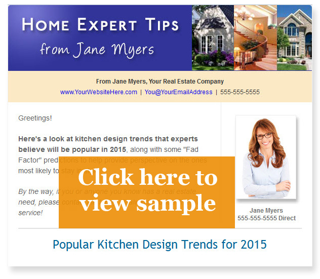Sample real estate email newsletter 1