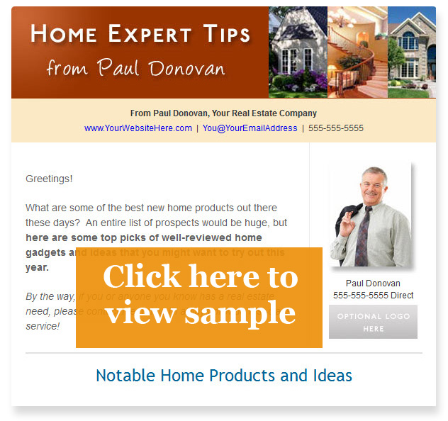 Real estate email newsletter sample 3